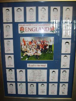 Englands World Cup Rugby team  framed