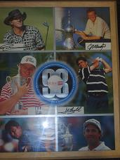 1998 Dubai Desert classic signed by  Colin Montgomerie,José María Olazábal  Ernie Els and Greg Norman image reduced by £500