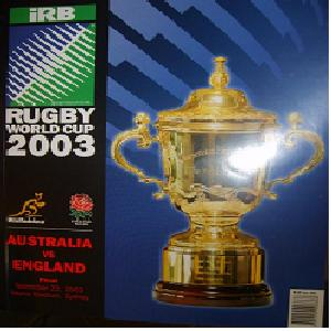 England Rugby World Cup programe 2003.