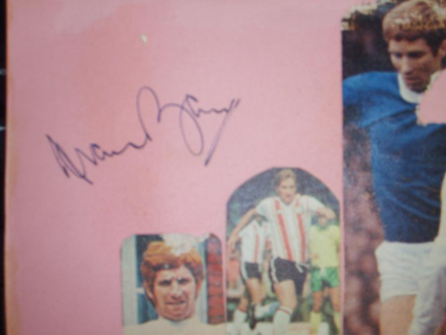 Alan Ball signed card