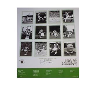 Celtic European Cup Signed Print