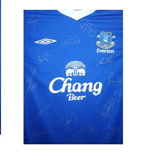Everton shirt signed by 15