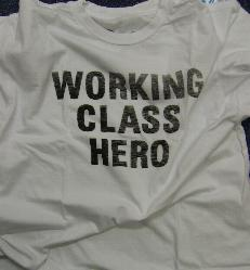 A Free Offer!!  John Lennon Working Class Hero T shirt when you spend £50 or more