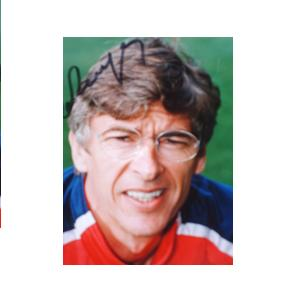 Arsene Wenger signed photo